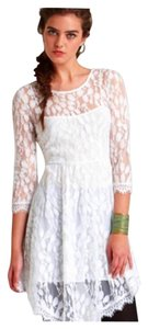 Free People short dress White Ivory on Tradesy