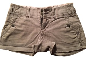 American Eagle Outfitters Cuffed Shorts gray, white