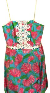 Lilly Pulitzer short dress Turquoise Kissue on Tradesy