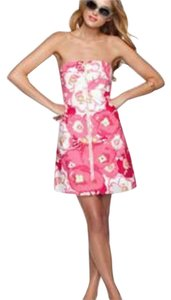 Lilly Pulitzer short dress Hotty Pink Cherry Begonia on Tradesy