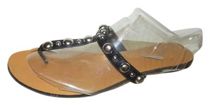 Franco Fortini Thong Studded black Sandals