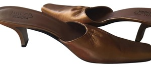 Unisa Leather Bronze metallic Mules