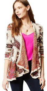 Anthropologie Flowy Cotton Blend Draped Cardigan