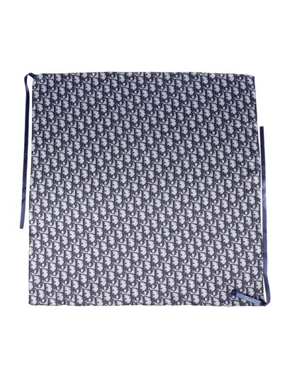 Dior Navy and white Christian Dior Diorissimo headscarf