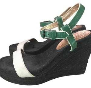 Marc by Marc Jacobs Black green cream Wedges