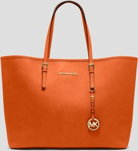 MICHAEL Michael Kors Jet Set Travel Travel Tote in orange