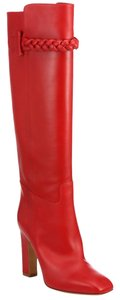 Valentino Tbc Braid Over The Knee Red Boots