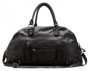 Linea Pelle Black Travel Bag