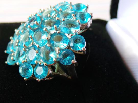 Other Swiss Blue Topaz, 925 Sterling Silver Ring US SZ 7.5