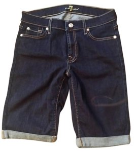 7 For All Mankind Cotton Cuffed Shorts Indigo