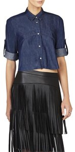 BCBGMAXAZRIA Button Down Shirt Slate wash