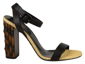 Gucci Leather Bamboo 338750 Sandals