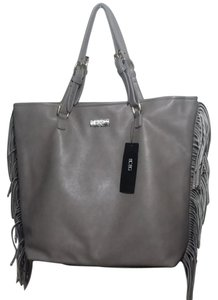 BCBG Paris Fringe Shopper Tote in Grey
