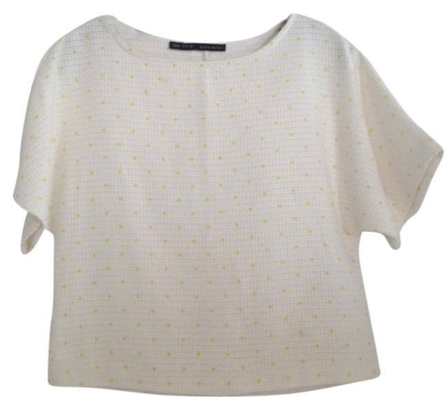 Preload https://item5.tradesy.com/images/zara-white-with-yellow-polka-dots-blouse-size-4-s-1661609-0-0.jpg?width=400&height=650