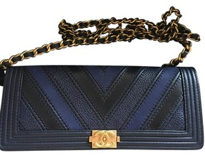 Chanel Navy Clutch