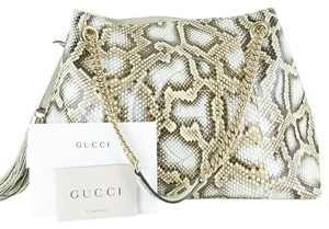Gucci Soho Python Multicolored Horsebit Clasp Shoulder Bag