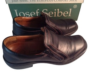 Josef Seibel Black Leather Flats