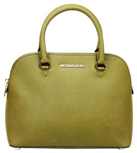 Michael Kors Leather Satchel in Olive