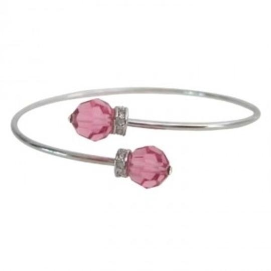 Preload https://img-static.tradesy.com/item/166171/silver-pink-allure-cuff-rose-crystals-bracelet-0-0-540-540.jpg