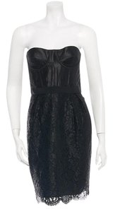 Matthew Williamson Lace Silk Linen Bustier Strapless Dress