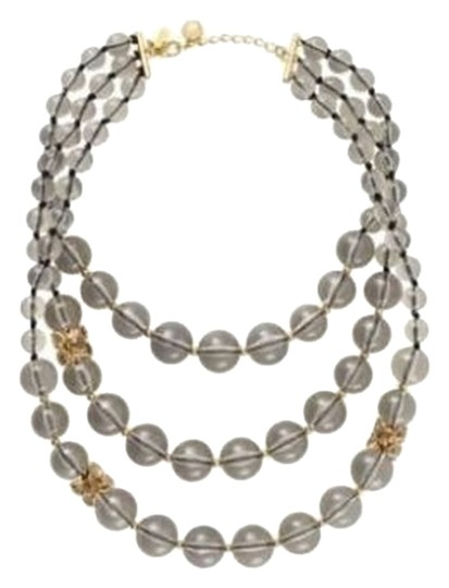 Kate Spade Brand New with Tags Kate Spade Bowery Ball Multi Necklace 12K Gold Plate Smoky Ball Beads