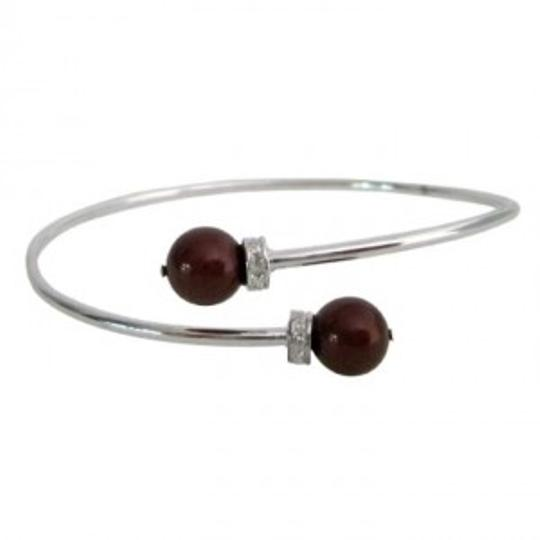 Preload https://item4.tradesy.com/images/silver-red-inspired-design-wine-color-pearls-cuff-superb-price-bracelet-166178-0-0.jpg?width=440&height=440