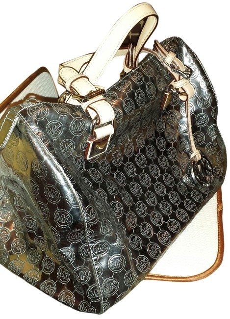 Item - Limited Edition Metallic Silver Leather Tote