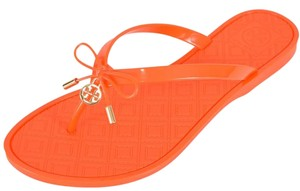 Tory Burch Jelly Thong Orange Sandals