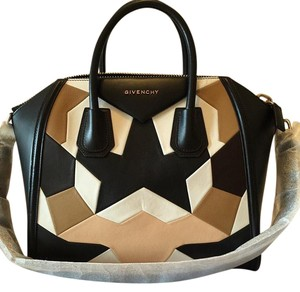 Givenchy Duffel Antigona Satchel in black, neutral, white, tan