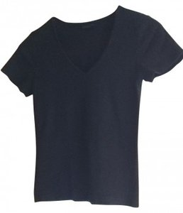 The Limited Small M Medium 6 8 Cotton V-neck T-shirt Summer Basic T Shirt black