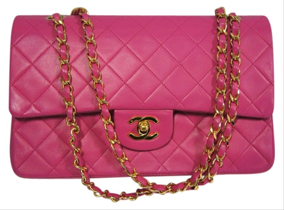 """37edabac2b2813 Chanel Classic Flap 2.55 Reissue 9"""" Pink Lambskin Leather Shoulder Bag"""