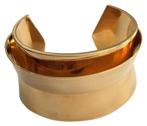 Lele Sadoughi Gold Layered Cuff