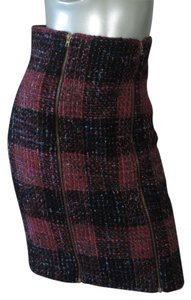 Patrick Kelly Vintage Skirt red, black, bright blue plaid