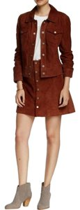 Sanctuary Clothing Suede Suede Mini Skirt Brown