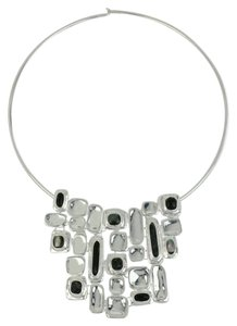 Robert Lee Morris Robert Lee Morris Soho Silver-Tone Shell & Stone Geometric Collar Necklace