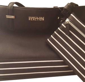 Kenneth Cole Reaction Tote in Black with White Stripe