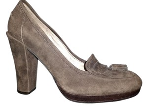 Sam Edelman Loafer Chunky Heal Brown Suede Pumps