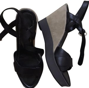 Cole Haan Black with beige wedge Sandals