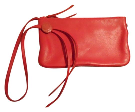 Gap Leather Wristlet in red