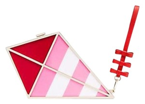 Kate Spade Pink Red Cream Clutch