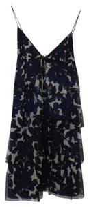 J.Crew short dress Navy, Black, & White Floral Print on Tradesy