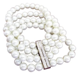 Premier Designs NEW IN BOX PREMIER DESIGNS 'ELAINE' FAUX PEARLS & CRYSTALS 4 STRAND STRETCH BRACELET