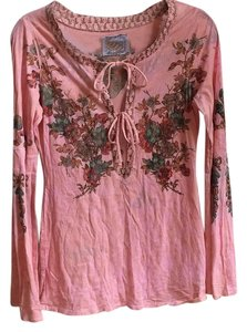 Butterfly Dropout Top Pink