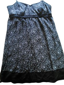 Mimi Maternity short dress Black with White Accents on Tradesy