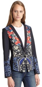 Clover Canyon Leather Cropped Trench multi Blazer