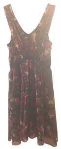 Cynthia Steffe Floral Flowy Red Designer Dress