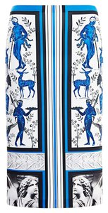 Clover Canyon Graphic Print Pencil Skirt blue