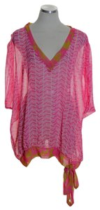Sweet Pea by Stacy Frati Sheer Dolman Print Top Pink