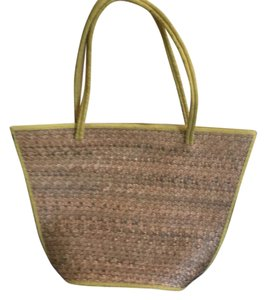 Mosaique Natural Straw Beach Bag