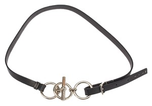 Prada Prada Women's Black Leather Belt, Size 80/32 (26956)